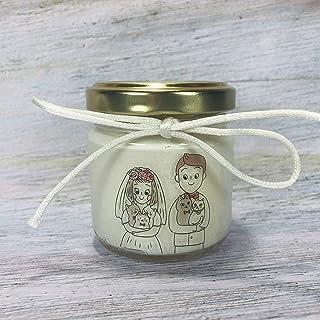 Coppie con animali domestici Bomboniere per Matrimonio 24 candele di cera di soia Bomboniera Segnaposto ricordo ospiti can...