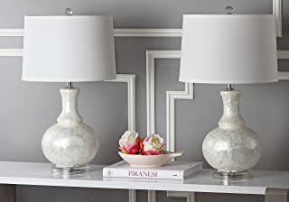 Safavieh Lighting Collection Shelley Gourd White 24.75-inch Table Lamp (Set of 2)