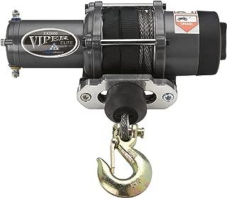 MotoAlliance VIPER Elite ATV/UTV Winch 5000lb with 40 feet BLACK Synthetic Rope and Wireless Remote