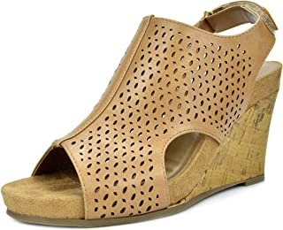 TOETOS Women's Solsoft Mid Heel Platform Wedges Sandals