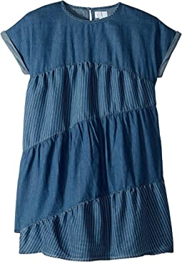 Tencel Mixed Stripe Dress (Big Kids)