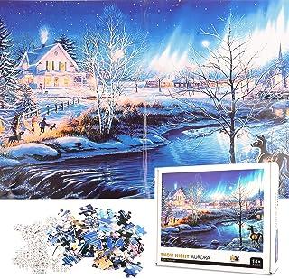 Puzzle Aurore nuit de neige 1000 PièCes Jeux Et Jouets pour enfants éducatif