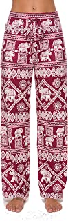 Roselux Women's Stretch Comfy High Waisted Drawstring Lounge Loose Wide Leg Yoga Pants