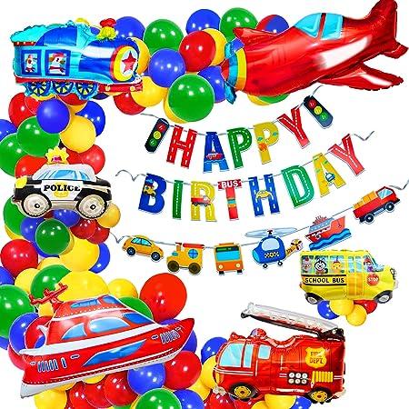 Flugzeug Kindergeburtstag Deko Geburtstagsdeko Junge Happy Birthday Banner