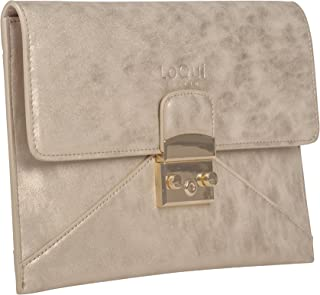 Patty Clutch Purse With Trendy Metallic Surface and Vegan Faux Leather Versatile For Fashionistas