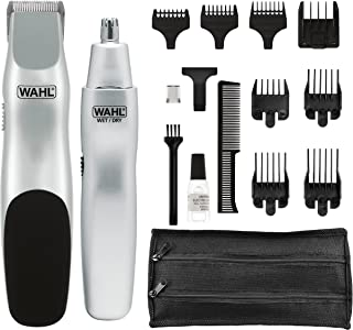 Wahl Groomsman Battery Powered Beard, Mustache, Hair & Nose Hair Trimmer for..