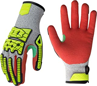 Seibertron 07 IVN TPR Sewing Impact 13G HPPE Shell Mechanic Gloves Anti-cut Oil and Gas Level 5 Cut Resistant Safety Glove L