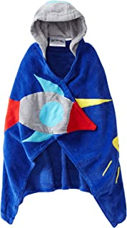 Kidorable Space Hero All-Cotton Hooded Blue Towel for Boys w/Fun Astronaut Helmet, Rocket