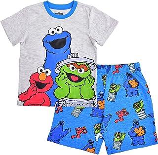 Sesame Street Boy's 2-Piece Character Shirt and Short Set