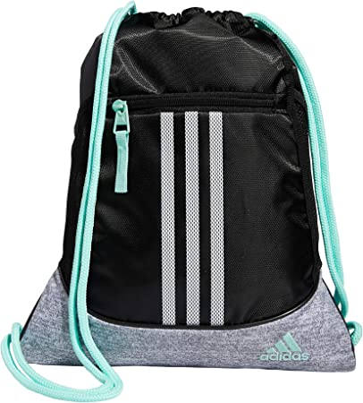 adidas Alliance 2 Sackpack, Black/Clear Mint/Grey Jersey/White ...