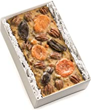Matthews 1812 House Heirloom Fruit & Nut Fruitcake- Hand Decorated 1 1/2 Pound Loaf Cake, No Alcohol, in White Gift Box. Full of Dates, Apricots, Pecans; No Citron, No Candied Fruits; All Natural.