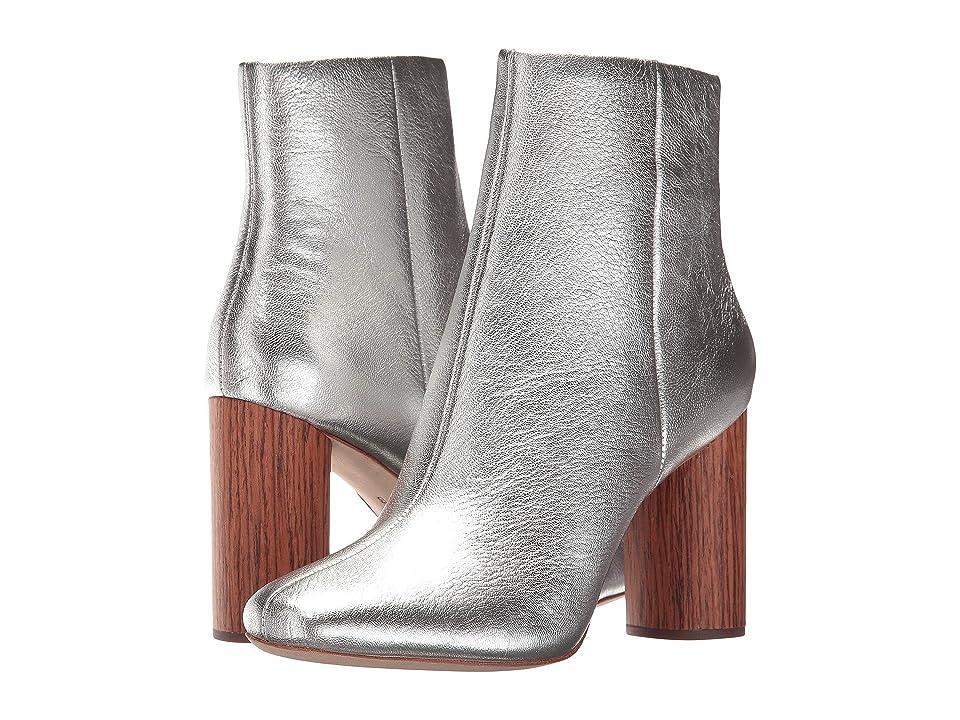 Loeffler Randall Wilder (Silver Metallic Leather/Cherry) Women