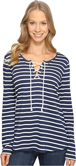 French Terry Lace-Up Top