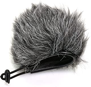 Bestshoot Deadcat Wind Shield, Microphone Furry Windscreen Muff Pop Filter Cover compatible with Zoom H1N & H1 Handy Porta...