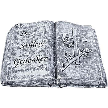 Schmuck Für Grab Tiergrab Friedhof Grabdekoration Romantisches Buch mit Kreuz
