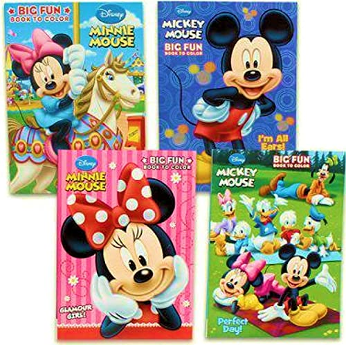 Disney's Mickey Mouse & Minnie Mouse Plus Friends Activity And Farbeing Book (Set Of 4) by Bendon Publishing