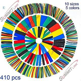 HT410- UK-410 piezas de colores, tubo termoretráctil en 5 colores y 10 tamaños.