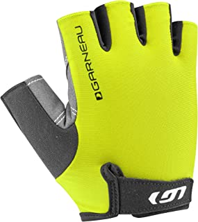 Louis Garneau Men's Calory Padded, Breathable, Shock Absorbing, Half Finger Bike Gloves