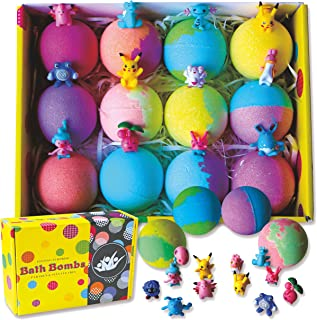 Bath Bombs for Kids with Surprise Inside. Go Party 12 Huge Surprise Bath Bombs with Toys. Individually Wrapped - Makes Great Party Favors for Birthday Parties & Kids Parties. Bath Time Fun!
