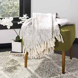 Safavieh Jacqui Metallic Throw Blanket, Grey/Silver