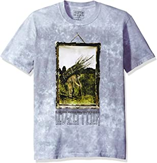 Liquid Blue Men's Led Zeppelin Man with Sticks Short Sleeve T-Shirt
