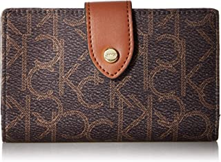 Calvin Klein womens Calvin Klein Key Item Nylon Small Snap Closure Wallet
