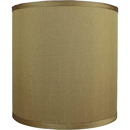 Urbanest Faux Silk Drum Lampshade 12 Inch By 12 Inch By 10 Inch Gold Spider Fitter Amazon Com