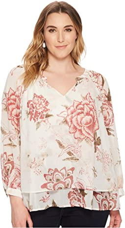 Lucky Brand - Plus Size Jenna Peasant Top