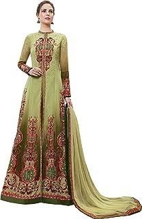 Green Partywear Readymade Anarkali Style Suit