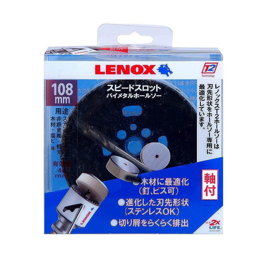 ルー薬を飲むゴミレノックス スピードスロット軸付バイメタルホールソー108mm 5121048