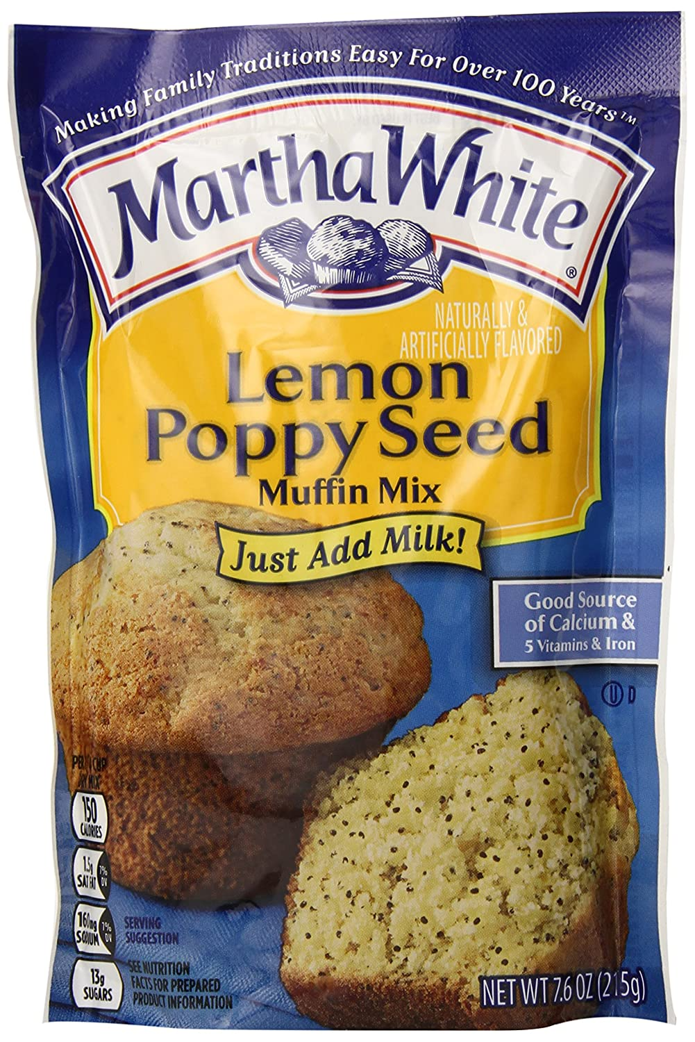Martha White Lemon Cash special price Poppy Seed Large-scale sale Muffin Mix 12 of Pack 7.6-Ounce