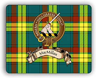MacMillan Scottish Clan Tartan Crest Computer Mouse Pad