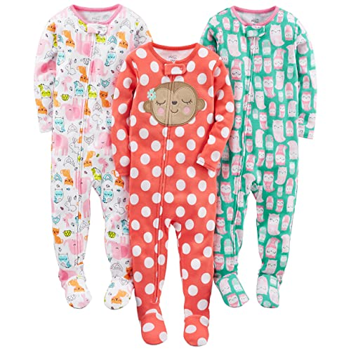 e40fc774af8b Toddler Footed Pajamas Girls  Amazon.com