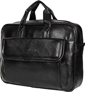 Sassie Leatherette 12 LTR Black Office Bag, Laptop Briefase, Sling Bag, Messanger Bag & Laptop Bag