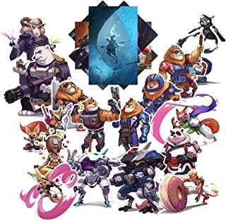 GTOTd Store Game Overwatch Stickers Animal Set #1 [Premium Quality Matte Waterproof Vinyl Stickers for Water Bottles、Laptops, Skateboards, Luggage, Cars, Bumpers, Bikes, Bicycles, Bedro