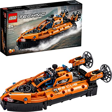 LEGO 42120 Technic AéroglisseurdeSauvetage Jeu de Construction d'un Avion, Modèle 2 en 1, pour Garçons et Filles de 8 Ans et +
