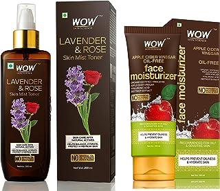 WOW Lavender & Rose No Parabens & Sulphate Skin Mist Toner , 200mL & WOW Skin Science Organic Apple Cider Vinegar Face Moi...