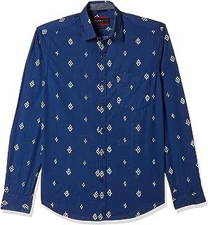 John Players Men's Plain Slim Fit Cotton Casual Shirt