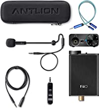 Antlion Audio ModMic 5 Attachable Microphone Bundle with FiiO E10K Black USB DAC and Headphone Amplifier, and Blucoil Y Splitter for Audio, Mic