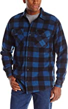 Best men's buffalo plaid sherpa lined shirt jacket Reviews