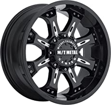 Mickey Thompson M/T Metal Series MM-164B Piano Black Wheel with Milled Accents (18x9