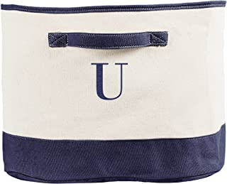 Cathy's Concepts Personalized Square Storage Bin, Navy, Letter U