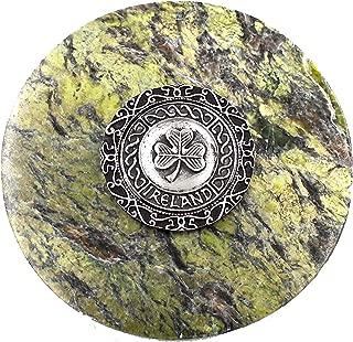 Genuine Irish Connemara Marble/ Mullingar Pewter Paperweight
