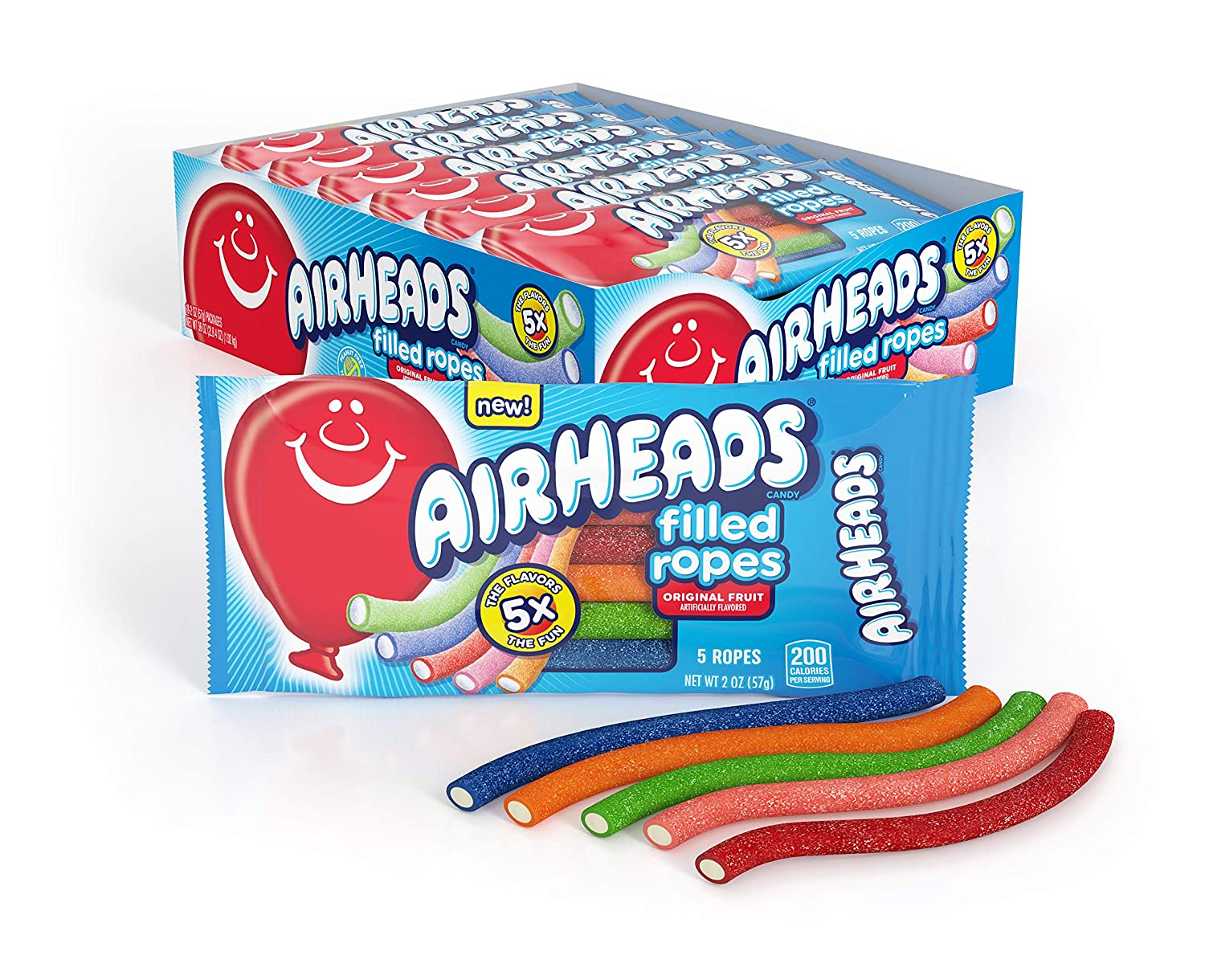 Airheads Filled Ropes Candy Original Fruit 2 18 Pack Ranking TOP9 Oz Max 78% OFF of