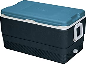 Igloo MaxCold 70 Quart Cooler, Jet Carbon/Ice Blue/White