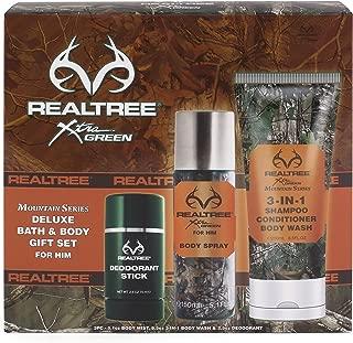 Realtree Mountain Series Bath & Body Gift Set, Men