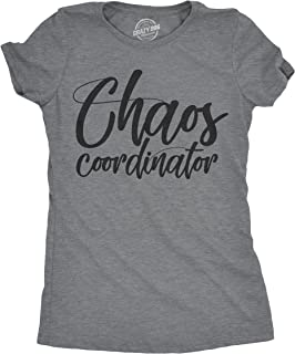 Womens Chaos Coordinator Tshirt Funny Parenting Tee for Mom