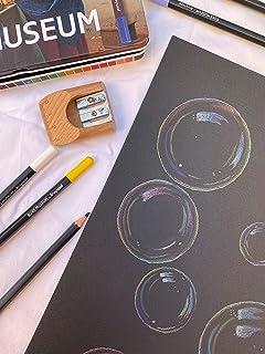 Pompas de Jabón/Ilustración Original A4 / Lápices de colores sobre papel negro Rembrandt 360gm / 24x32cm