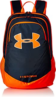 blue and orange under armour backpack