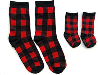Copper Robin Baby and Me Matching Socks Buffalo Plaid Socks for Adult and Baby Mommy and me Matching Socks Navy Aztec Baby Socks